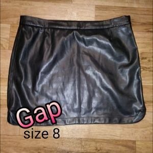 Faux Leather Gap Skirt Size 8